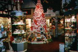 a view inside The Christmas Shop