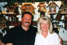 The owners Peter and Giselle in The Christmas Shop in Boppard